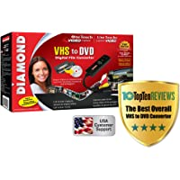 Diamond VC500 USB 2.0 One Touch VHS to DVD Video Capture Device with Easy to use Software, Convert, Edit and Save to…