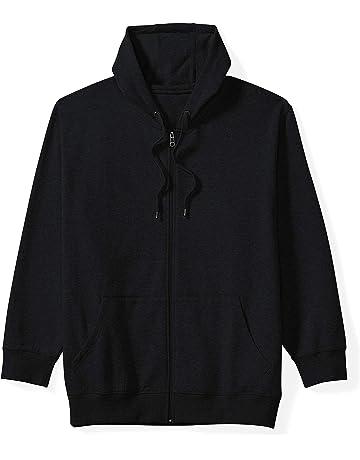 9e2445c4bdd40 Amazon Essentials Men s Big   Tall Full-Zip Hooded Fleece Sweatshirt fit ...
