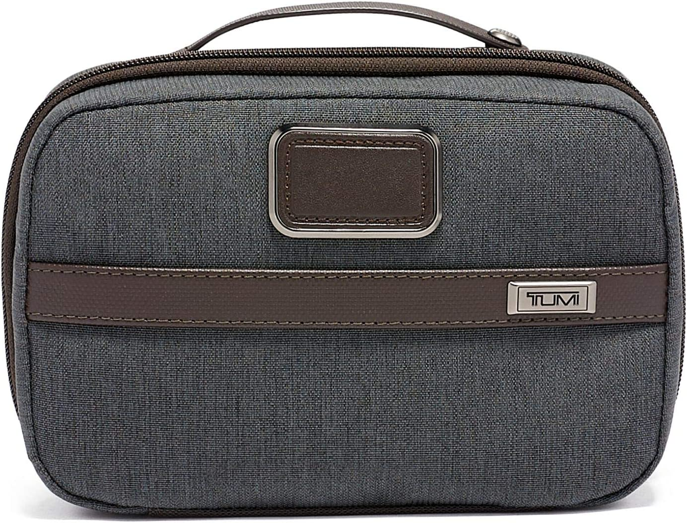 TUMI - Alpha 3 Split Travel Kit - Luggage Accessories Toiletry Bag for Men and Women - Anthracite