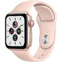 Apple Watch SE (GPS + Cellular) • 40 mm aluminiumboett guld • sportband sandrosa – standard