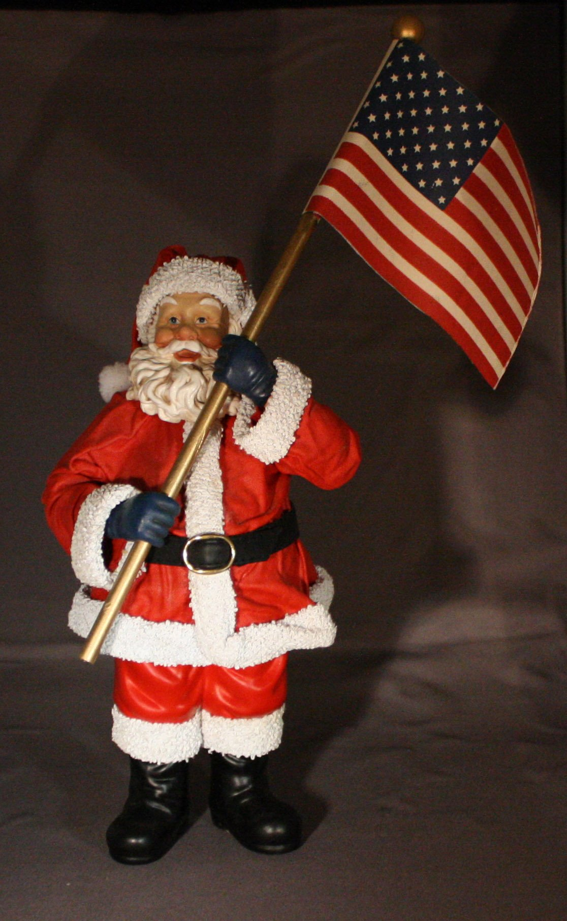 Possible Dreams® Clothtique™ God Bless America Santa #713509 Features Santa Holding an American Flag by Possible Dreams