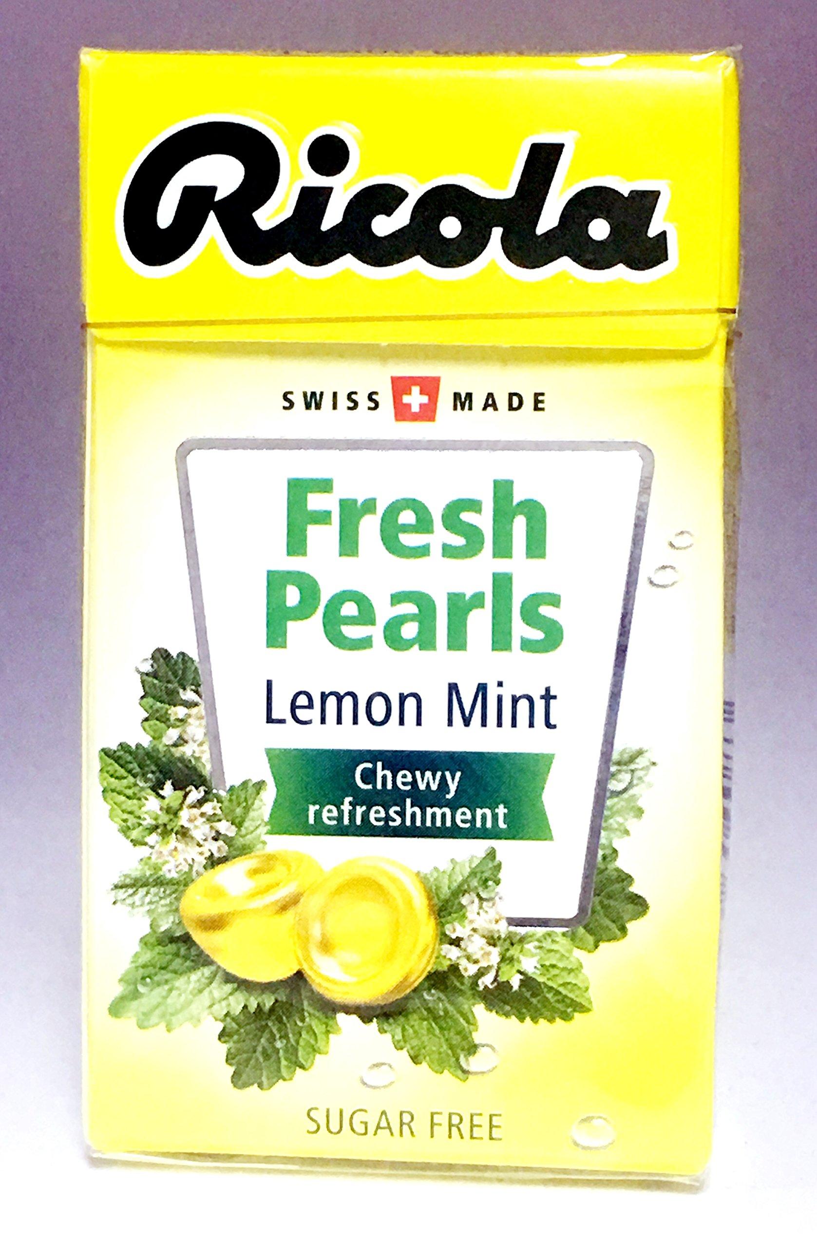 (Pack of 20) Ricola Fresh Pearls Sugar-Free Lemon Mint 25g by Ricola