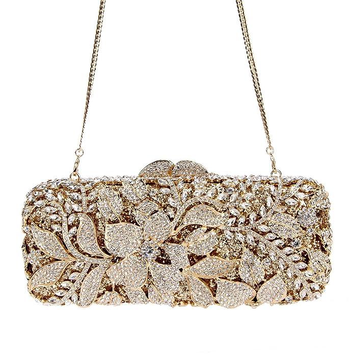 Amazon.com: Crystal noche garras con flor para mujer ...