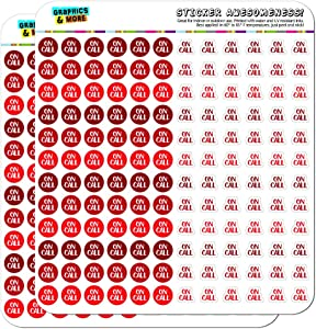 On Call Dots Planner Calendar Scrapbooking Crafting Stickers - Red - Opaque
