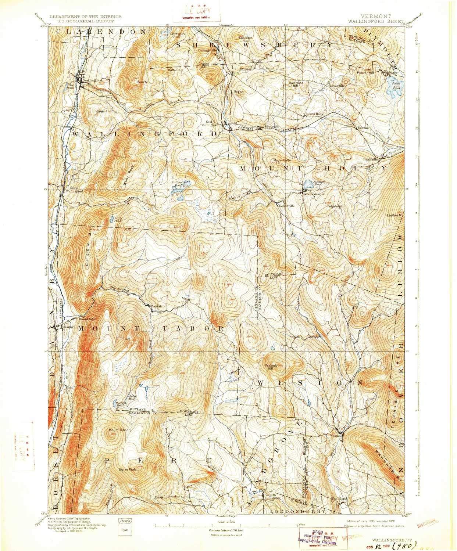 Amazon.com: YellowMaps Wallingford VT topo map, 1:62500 Scale, 15 X ...