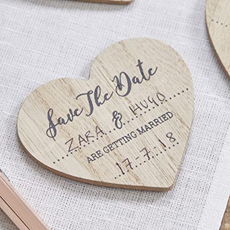 ginger ray save the date wooden magnet invitations 10 pack