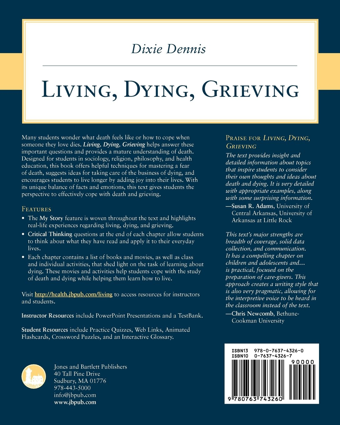 Living dying grieving dixie l dennis 9780763743260 amazon living dying grieving dixie l dennis 9780763743260 amazon books fandeluxe Images