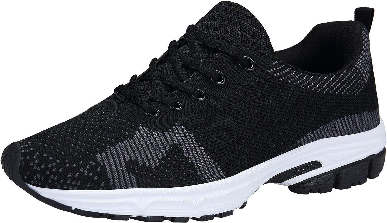 DENGBOSN Zapatillas Deportivas de Mujer Zapatillas Mujer Zapatos para Correr Casual Trekking Zapatos Negro Azul Rojo 36-43,XZ116-black-EU38: Amazon.es: Zapatos y complementos