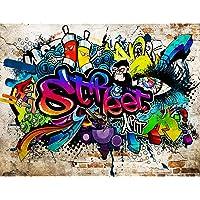 Fotobehang Graffiti Streetart - Vliesbehang Woonkamer Slaapkamer Kantoor Hal Decoratie Muurschilderingen XXL Moderne…
