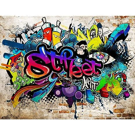 Fototapete Graffiti Streetart Vlies Wand Tapete Wohnzimmer Schlafzimmer  Büro Flur Dekoration Wandbilder XXL Moderne Wanddeko - 100% MADE IN GERMANY  - ...