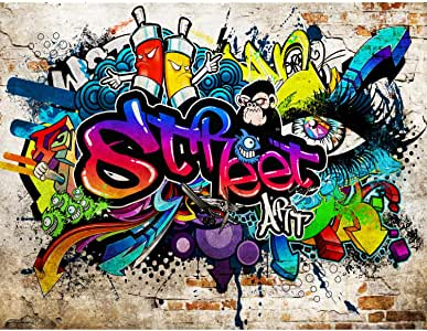Papel Pintado Fotográfico Muro de graffiti 308 x 220 cm
