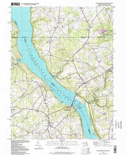 Amazon.com : YellowMaps Conowingo Dam MD topo map, 1:24000 Scale ...