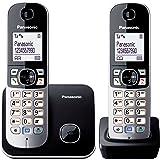 Panasonic KX-TG6812 - Teléfono fijo digital (inalámbrico, DECT), negro y blanco [Importado de Italia]