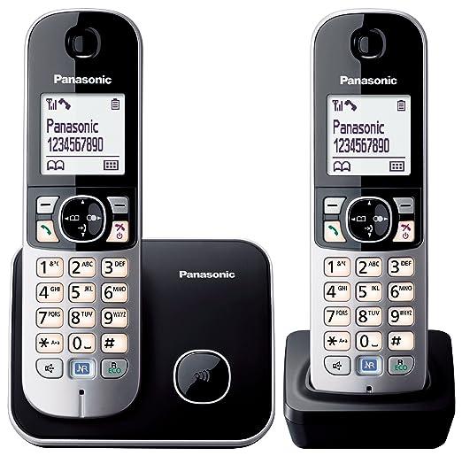 632 opinioni per Panasonic KX-TG6812JTB Telefono Cordless DECT Twin, Nero/Bianco