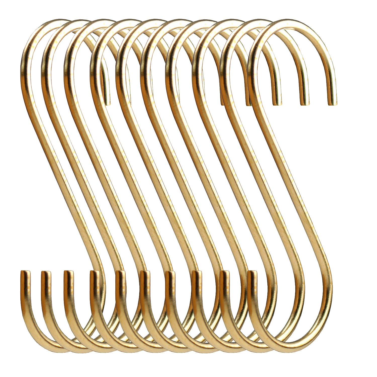 simpletome S Hooks Copper Hangers for Kitchen Bathroom Bedroom Office (Copper/10PCS)