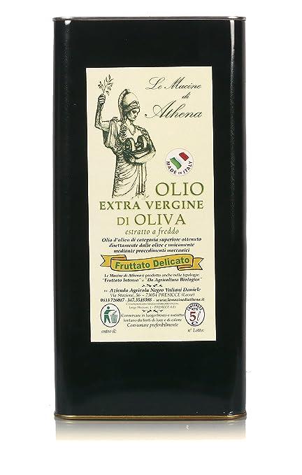"""4 opinioni per Olio Extravergine di Oliva """"Le Macine di Athena""""- Fruttato Delicato- 1er Pack (1"""