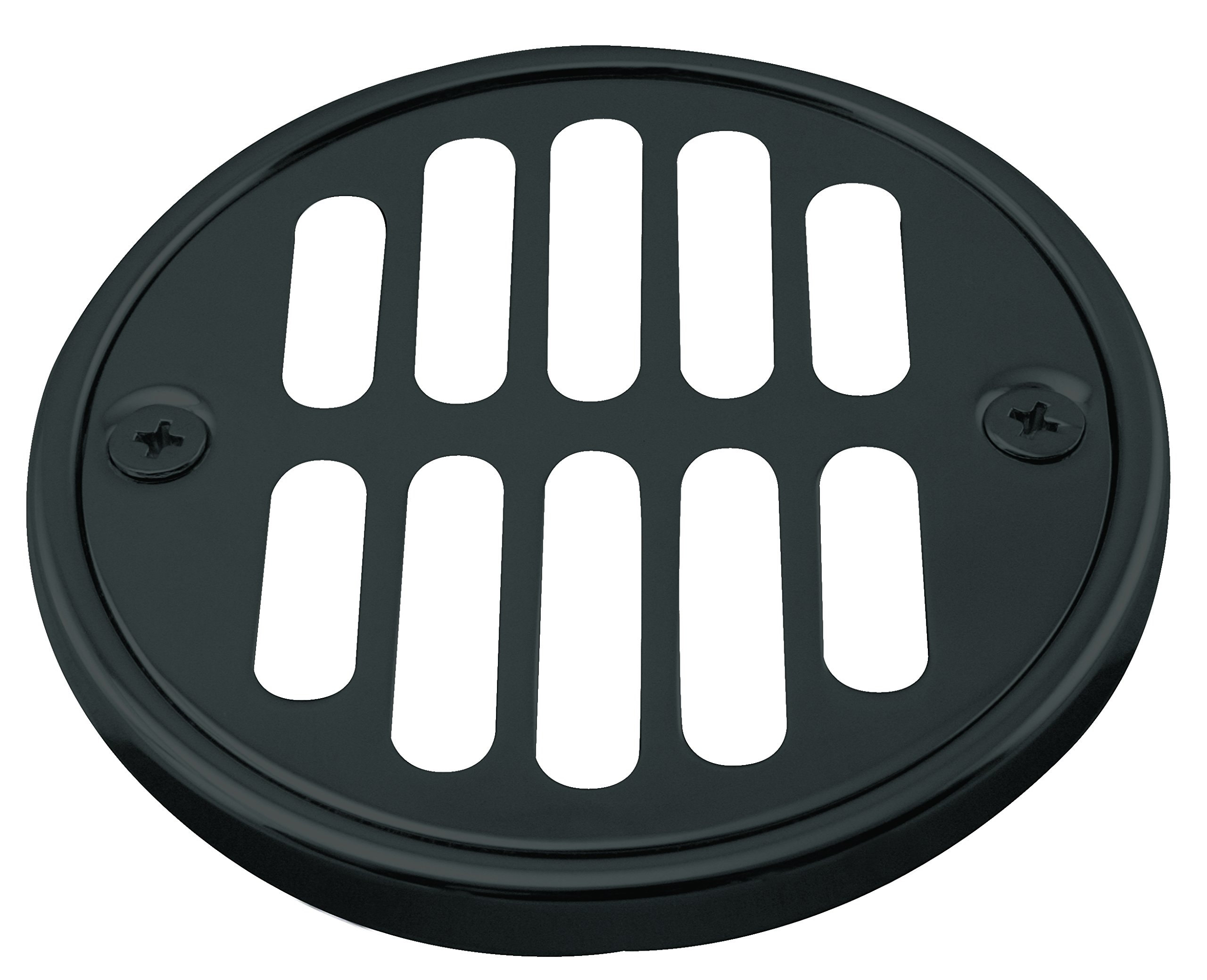 Westbrass Shower Strainer Set with Screws, Grill and Crown, Matte Black, D312-62