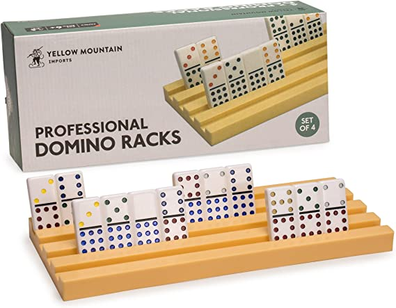 4Pcs Domino Racks Domino Wooden Trays Holder For Chicken Foot Mexican Train Game