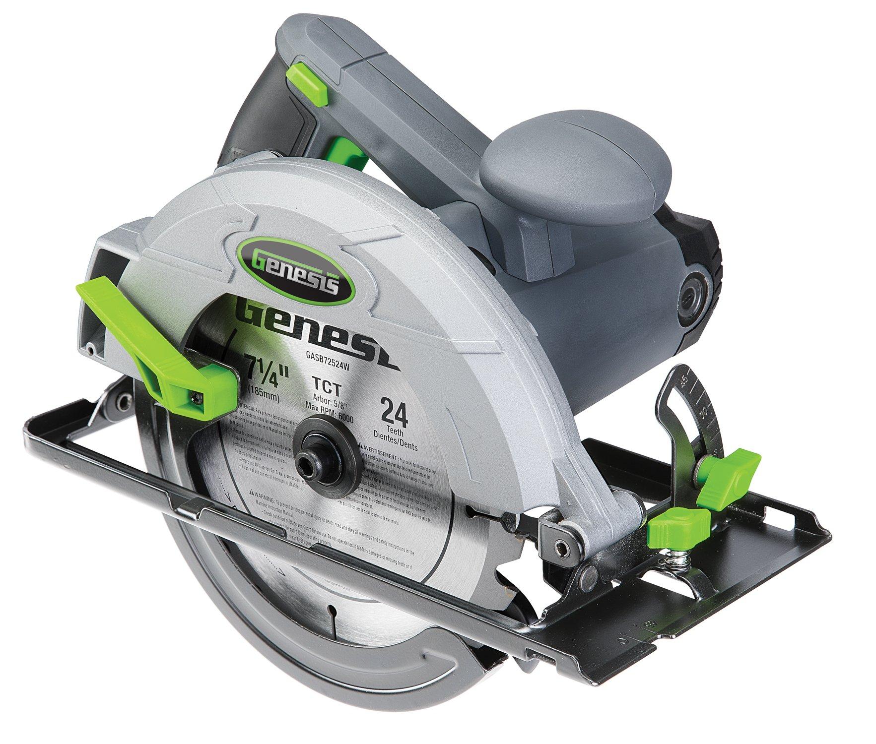 Genesis Gcs130 Circular Saw With 13 Amp Motor, 7-1/4'' Blade