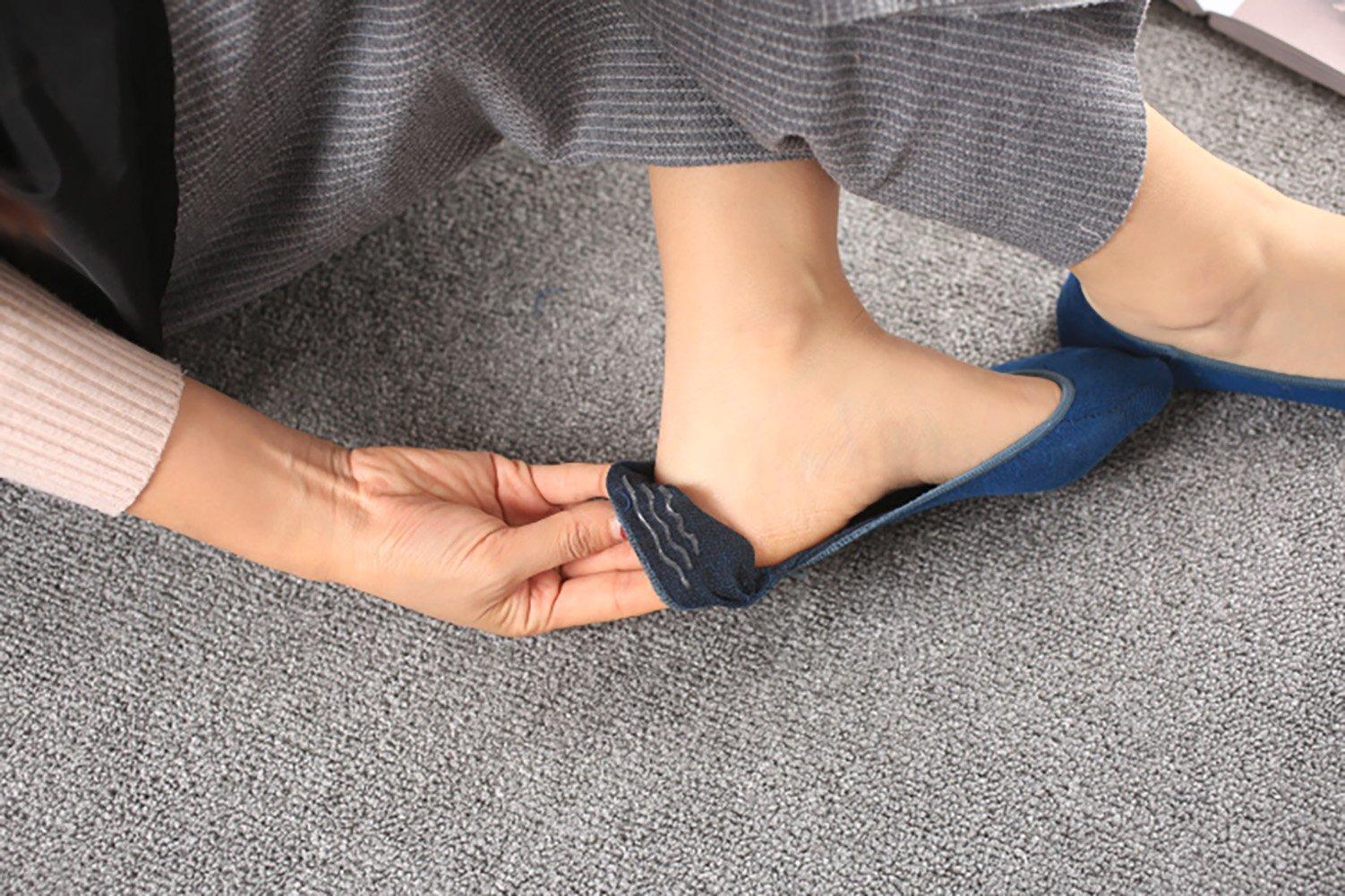 Women No Show Socks Cotton Liner Socks Non-Slip No Show Socks Low Cut Boat Socks 5-Pairs by Ayiran (Image #6)