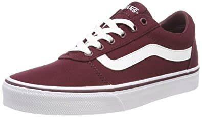 bd7afa125d Vans Women s Ward Canvas Low-Top Sneakers  Amazon.co.uk  Shoes   Bags