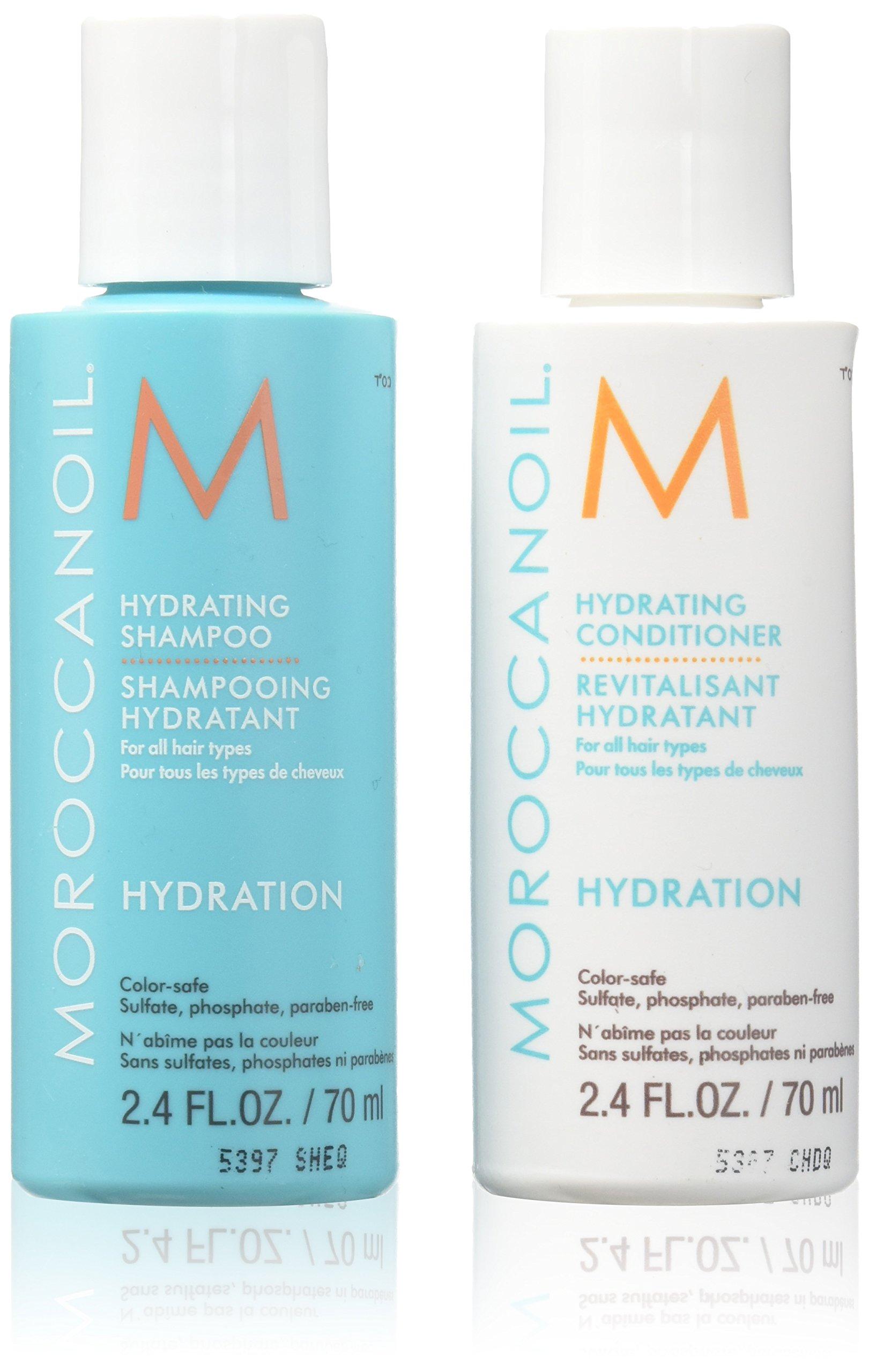 Moroccanoil Moisture Repair Shampoo & Conditioner Travel Set 2.4 oz each