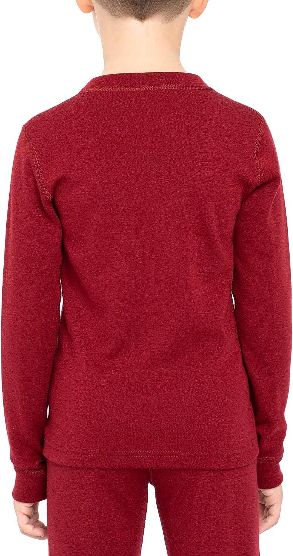 per bambine e ragazzi 250 g//mq Menique Camicia a maniche lunghe in lana merino