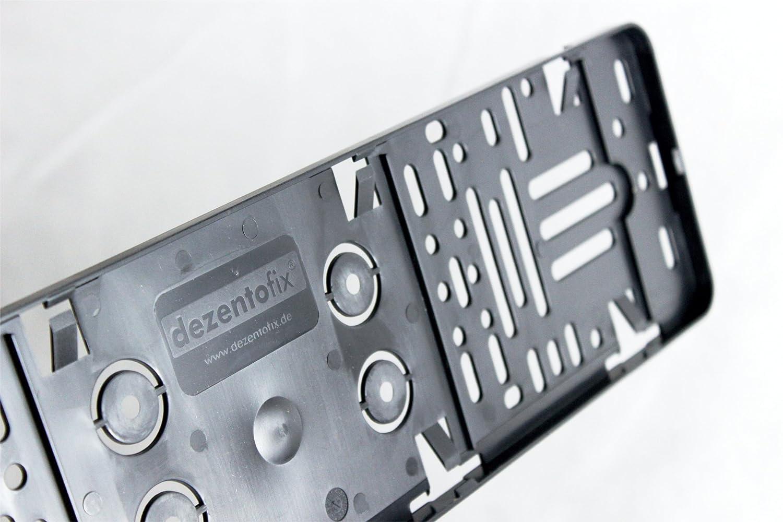 DEZENTOFIX CMS Kennzeichenhalter (2 Stück) 46cm - 46 - 460mm - 460 ...