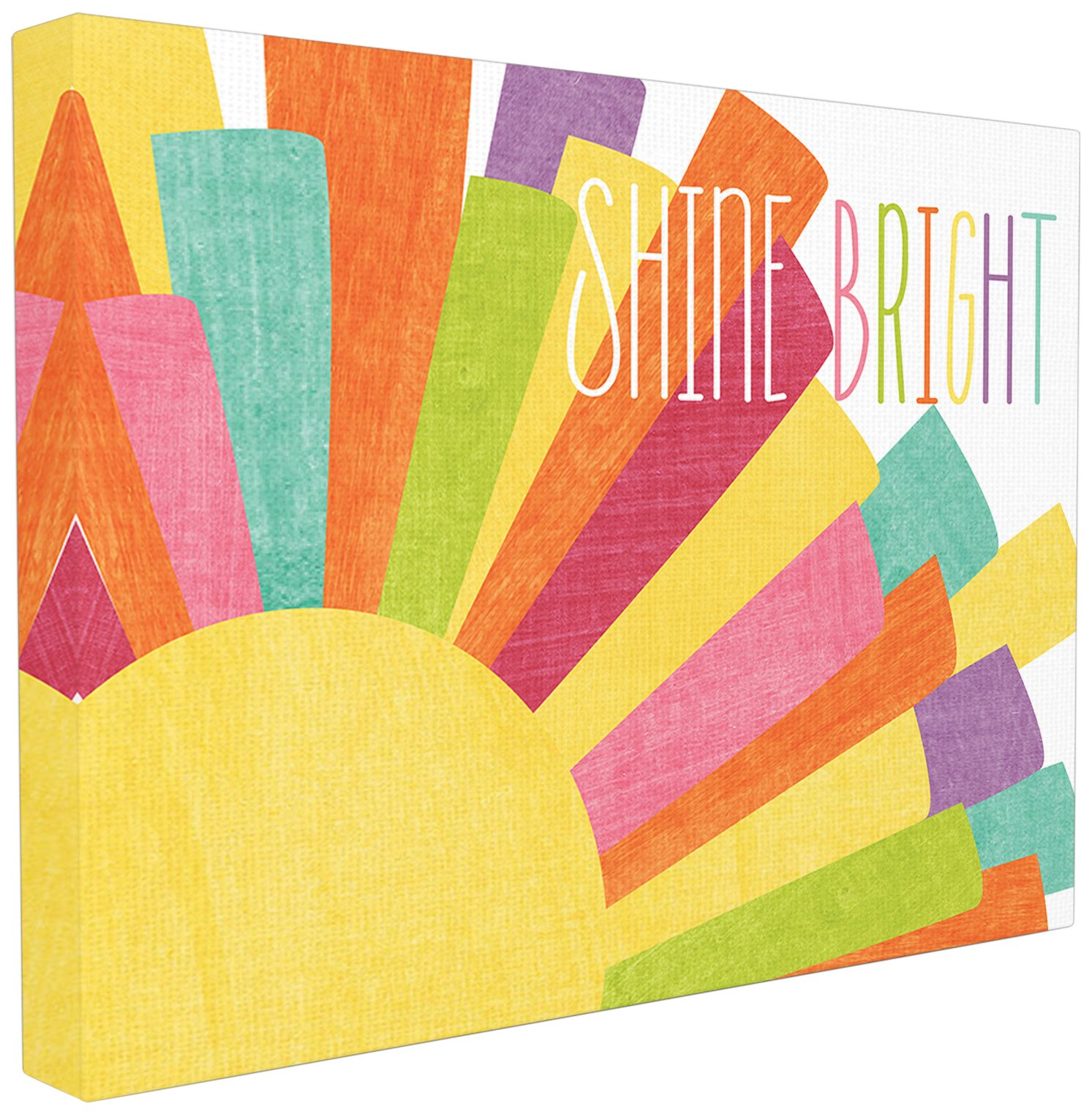 The Kids Room by Stupell Stupell Home Décor Shine Bright Colorful Sun Illustration Oversized Stretched Canvas Wall Art, 24 x 1.5 x 30, Proudly Made in USA