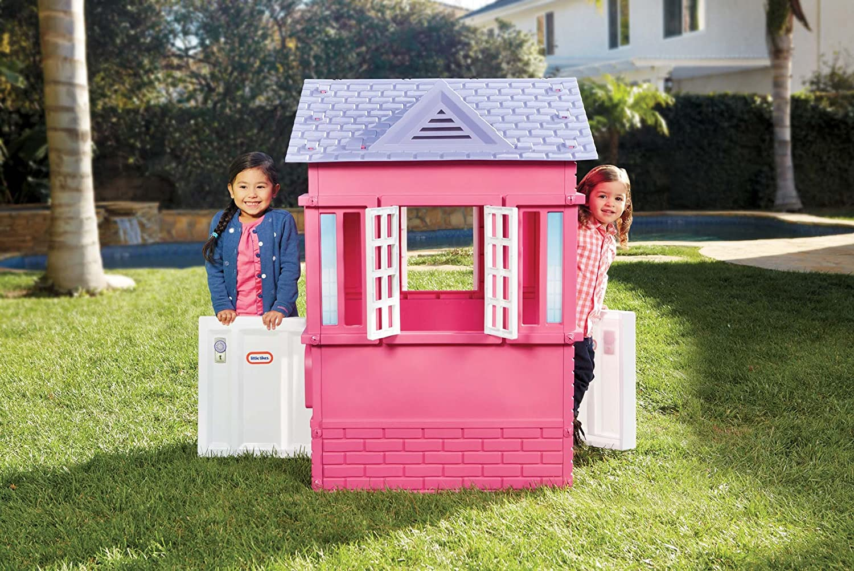 Amazon.com: Little Tikes Princess Cape Cottage Playhouse, Pink: Toys ...