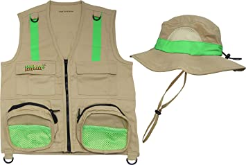 Eagle Eye Explorer Kids Safari Floppy Bucket Hat Adventure for Boys /& Girls Wide Brim with Chin Straps Sure Fit with