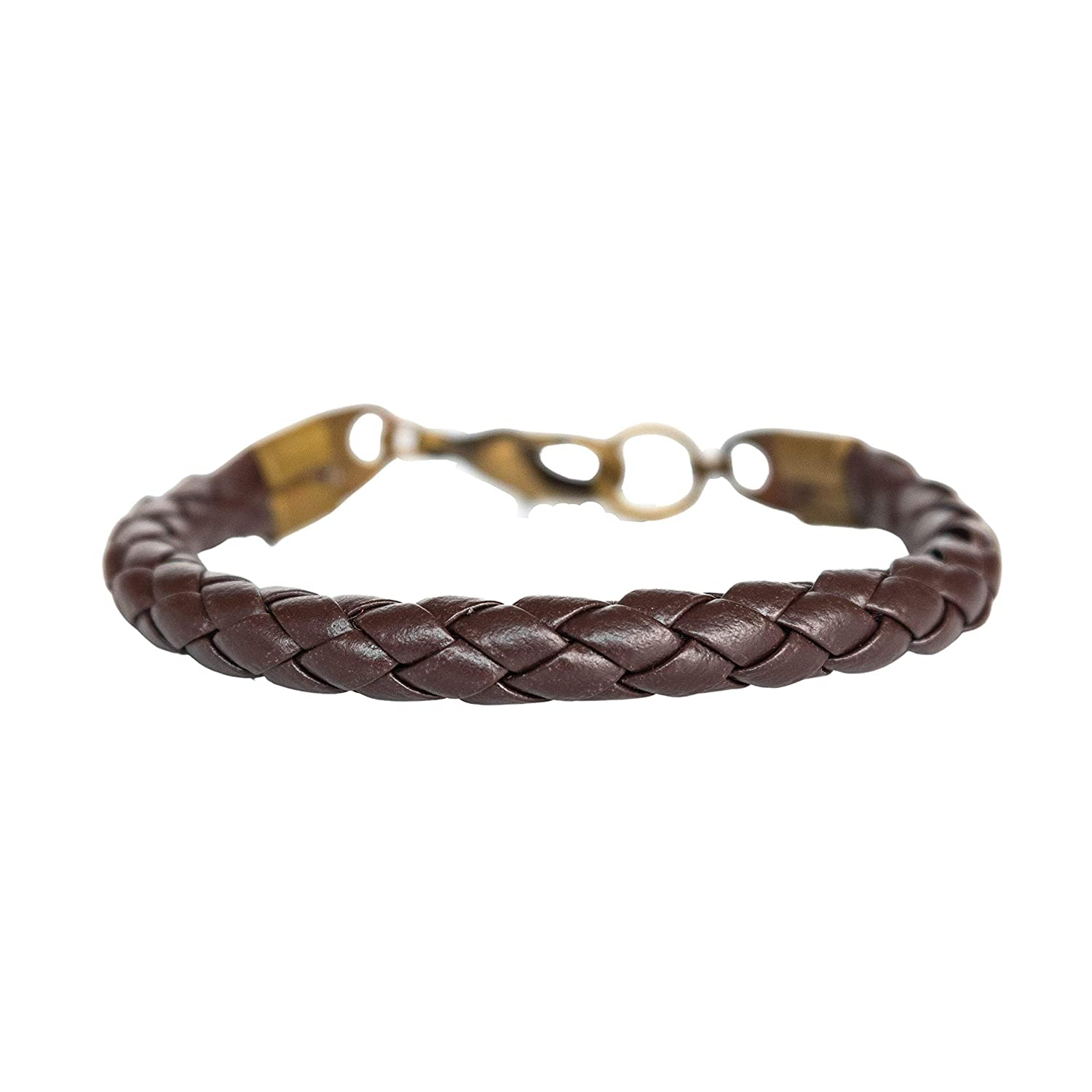 Mens Bolo Braided Bracelet  Antiqued Brown Leather and Sterling Silver  men dude guy man  rustic rugged tough bohemian manly rocker style