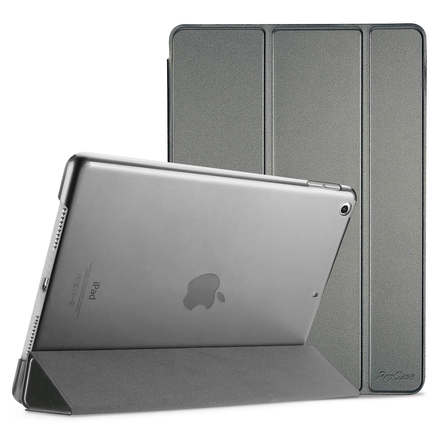 ProCase iPad 10.2 Case 2019 iPad 7th Generation Case, Slim Stand Hard Back Shell Protective Smart Cover Case for iPad 7th Gen 10.2 Inch 2019 (A2197 A2198 A2200) –Metallic