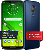 Moto G7 Power with Alexa Push-to-Talk – Unlocked – 32 GB – Marine Blue (US Warranty) – Verizon, AT&T, T–Mobile, Sprint, Boost