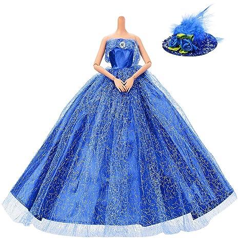 Robe de mariee avec du bleu
