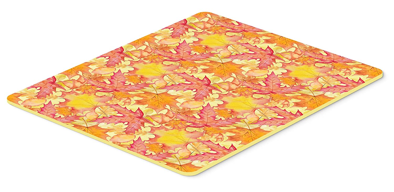 Caroline 's Treasures bb7498jcmt Fall Leaves Watercolorレッドキッチンマット、24