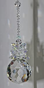 Hanging Crystal Suncatcher,Window ornament,Feng Shui decoration,Rainbow Maker,Crystal Ball Sphere,