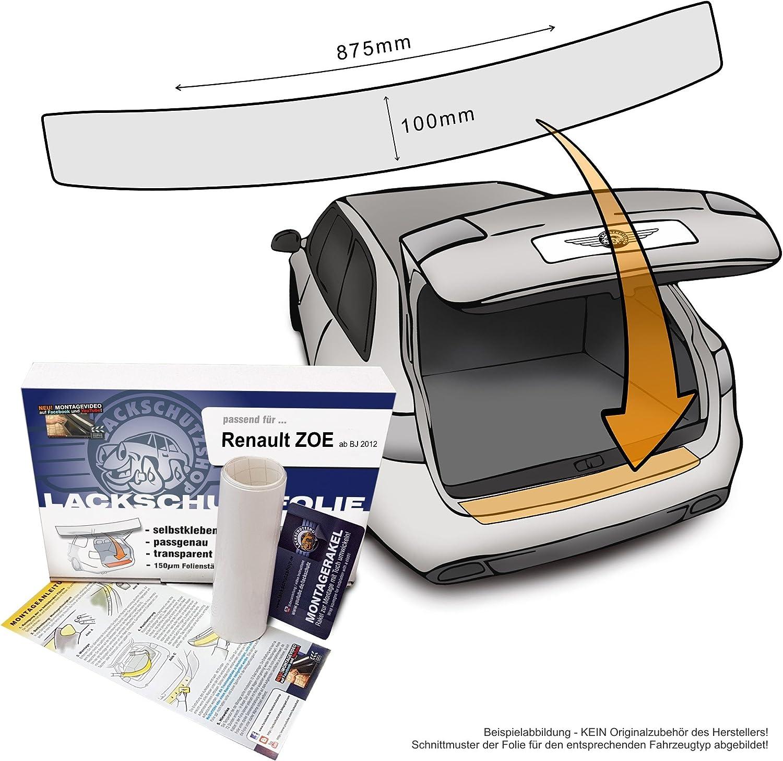 LADEKANTENSCHUTZ Lackschutzfolie für RENAULT CLIO 4 X98 ab 2012 Carbonfolie