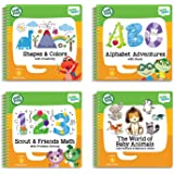 LeapFrog LeapStart Level 1 Preschool 4-in-1 Activity Book Bundle with ABC, Shapes and Colors, Math, Animals