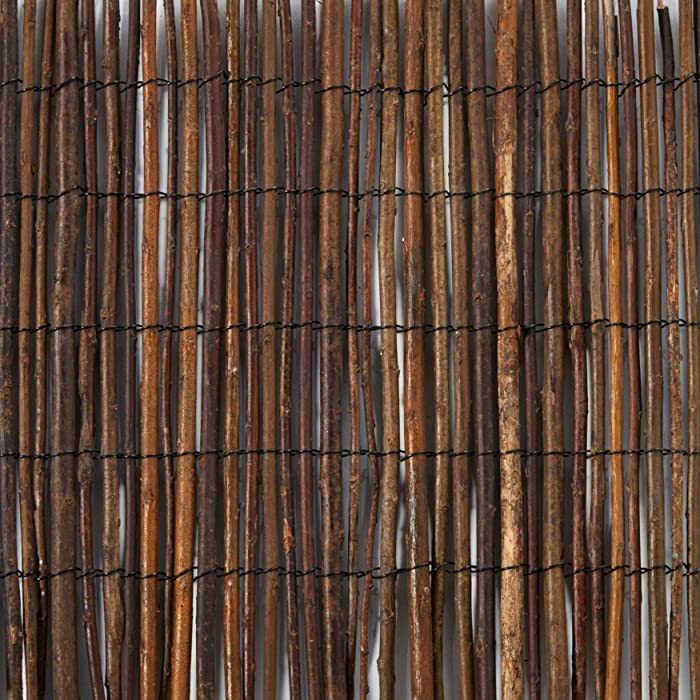 Master Garden Products Rolled Willow Border Fence, 1 by 14-Feet