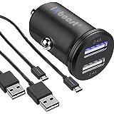 iXboost iX-1S Speed Charge Set 4.8A Dual Mini Handy Auto-Ladegerät Kfz Zigarettenanzünder Adapter + 2x Micro USB Ladekabel