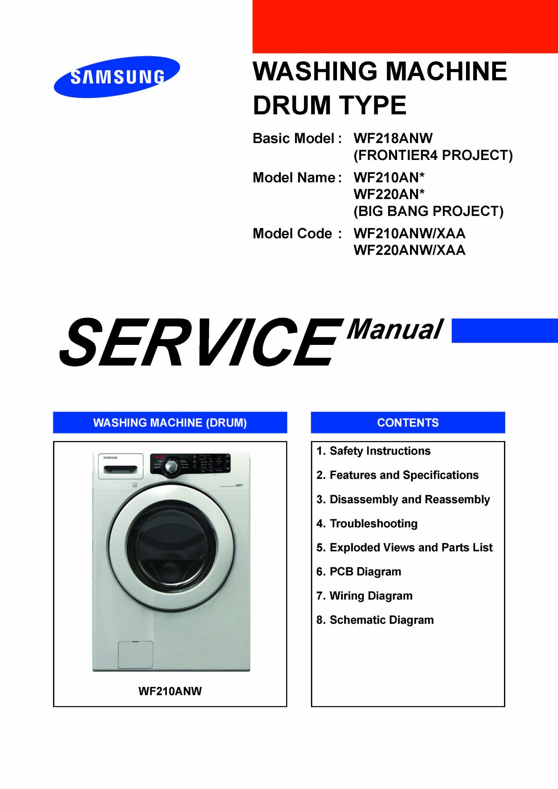 samsung wf220anw xaa service manual and wf220anw xaa service manual  dryer wiring diagram samsung service manual #15