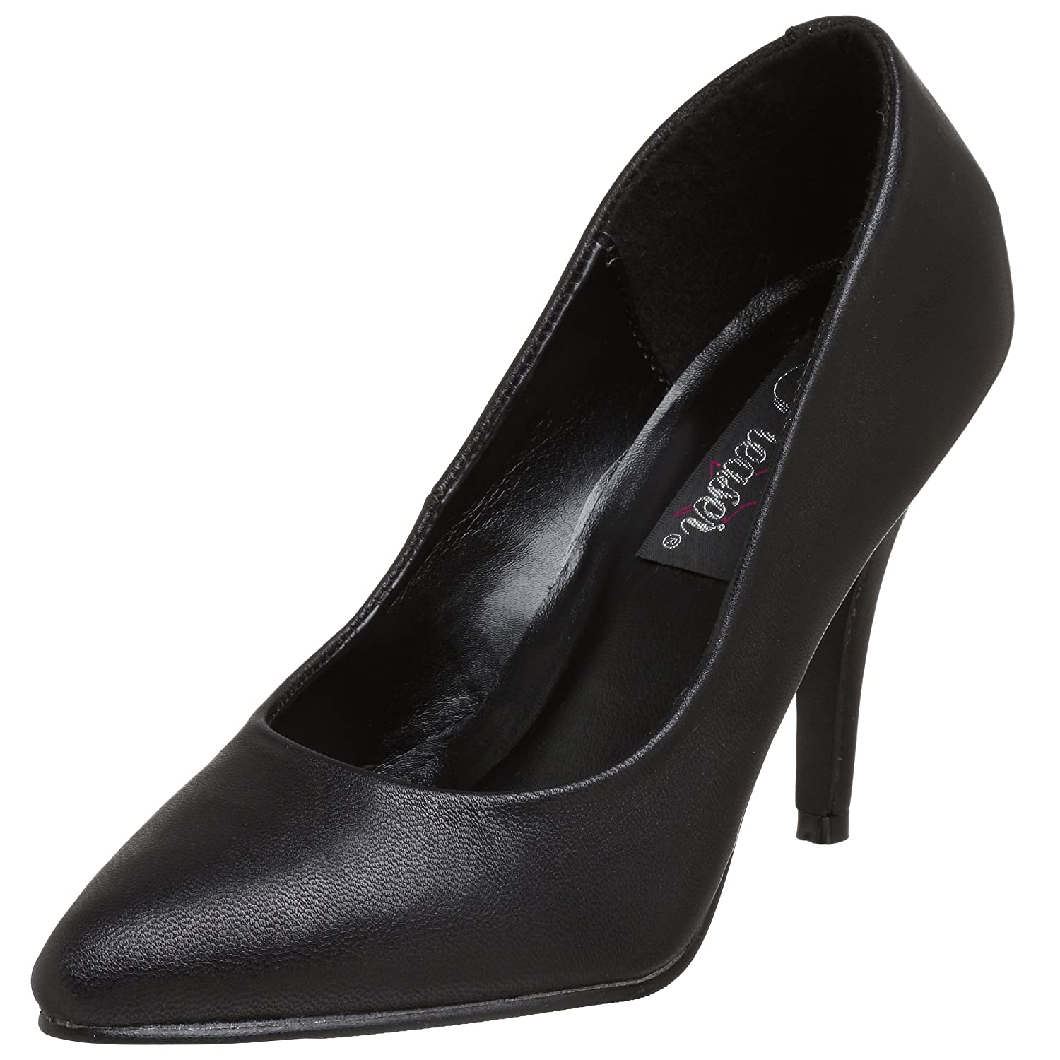 Pleaser VANITY-420, Zapatos Mujer 43 EU (10 UK)|Negro (Black Leather)