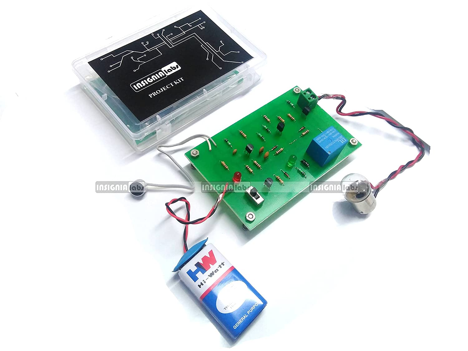 Buy Insignia Labs Clap Switch Based Light Bulb Control Kit Project Microcontroller Electronic Eye Controlled Security System School College Online At Low Prices In India