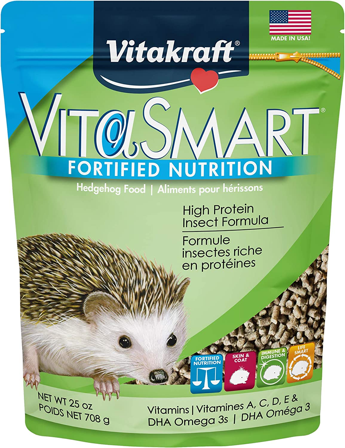 Vitakraft VitaSmart Fortified Nutrition Hedgehog Food, 25 oz