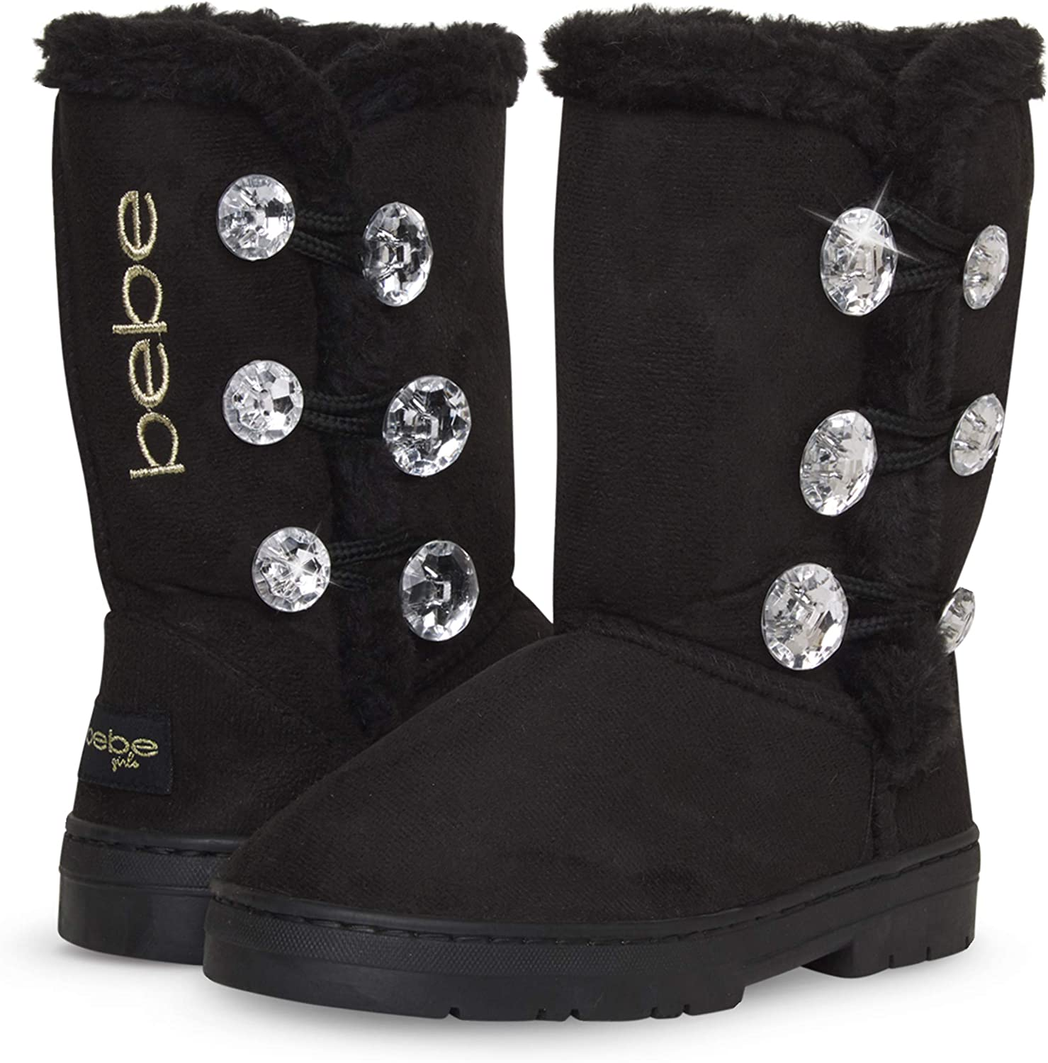 bebe Girl's Fur Lined Winter Boot with