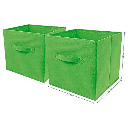 Top Home Solutions - Conjunto de 2cajas de almacenamiento en forma de cubo,