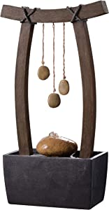 Kenroy Home 51047WDG Reflection Fountains, 21.5 Inch Height, Wood Grain Finish
