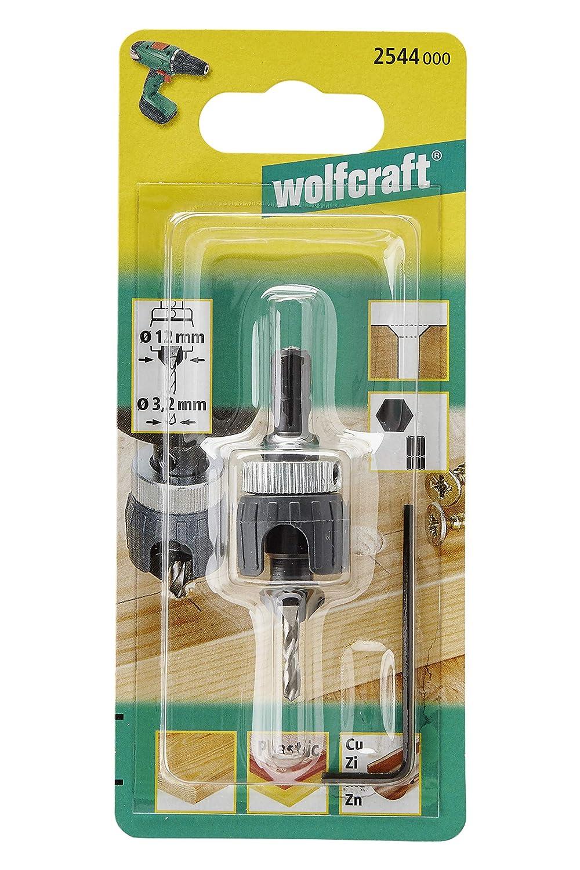Wolfcraft 2544000 1 Foret Damor/çage /Ø 3,2-12mm Angle 45/°avec but/ée de Profondeur R/églable