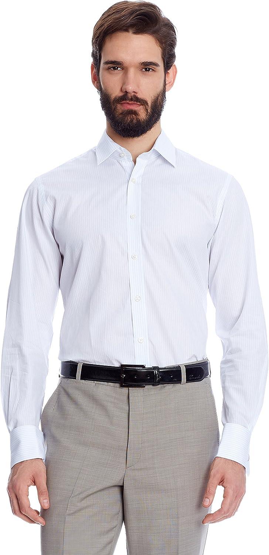 Caramelo Camisa Hombre Blanco/Azul Claro ES 41: Amazon.es: Ropa